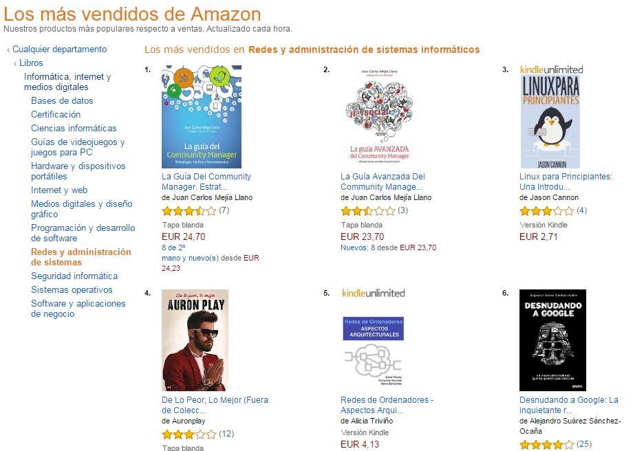 Libros de Juan Carlos Mejía Llano los más vendidos en Amazon España