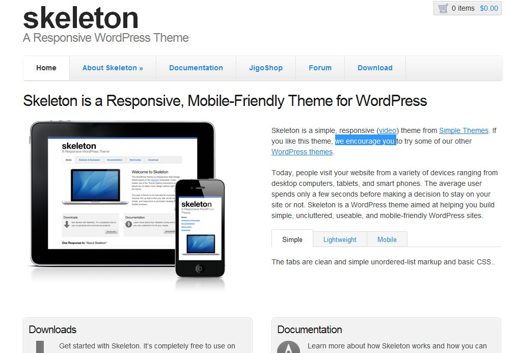20 plantillas web gratis responsive web design para With skeleton responsive template