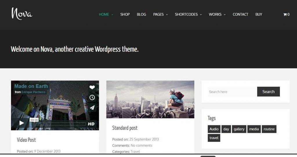 Plantilla wordpress Nova