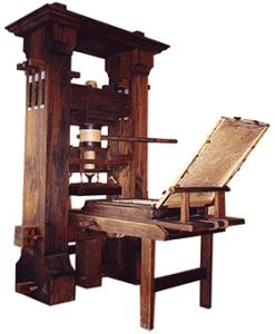 Historia de la publicidad - Imprenta de Gutenberg
