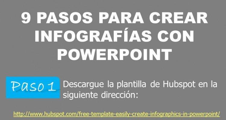 Creación de infografías con PowerPoint - excelente opción para no diseñadores