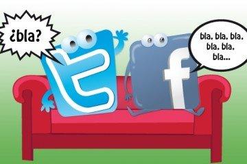 Tonos de comunicación en sitio Web Blog LinkedIn Twitter y Facebook