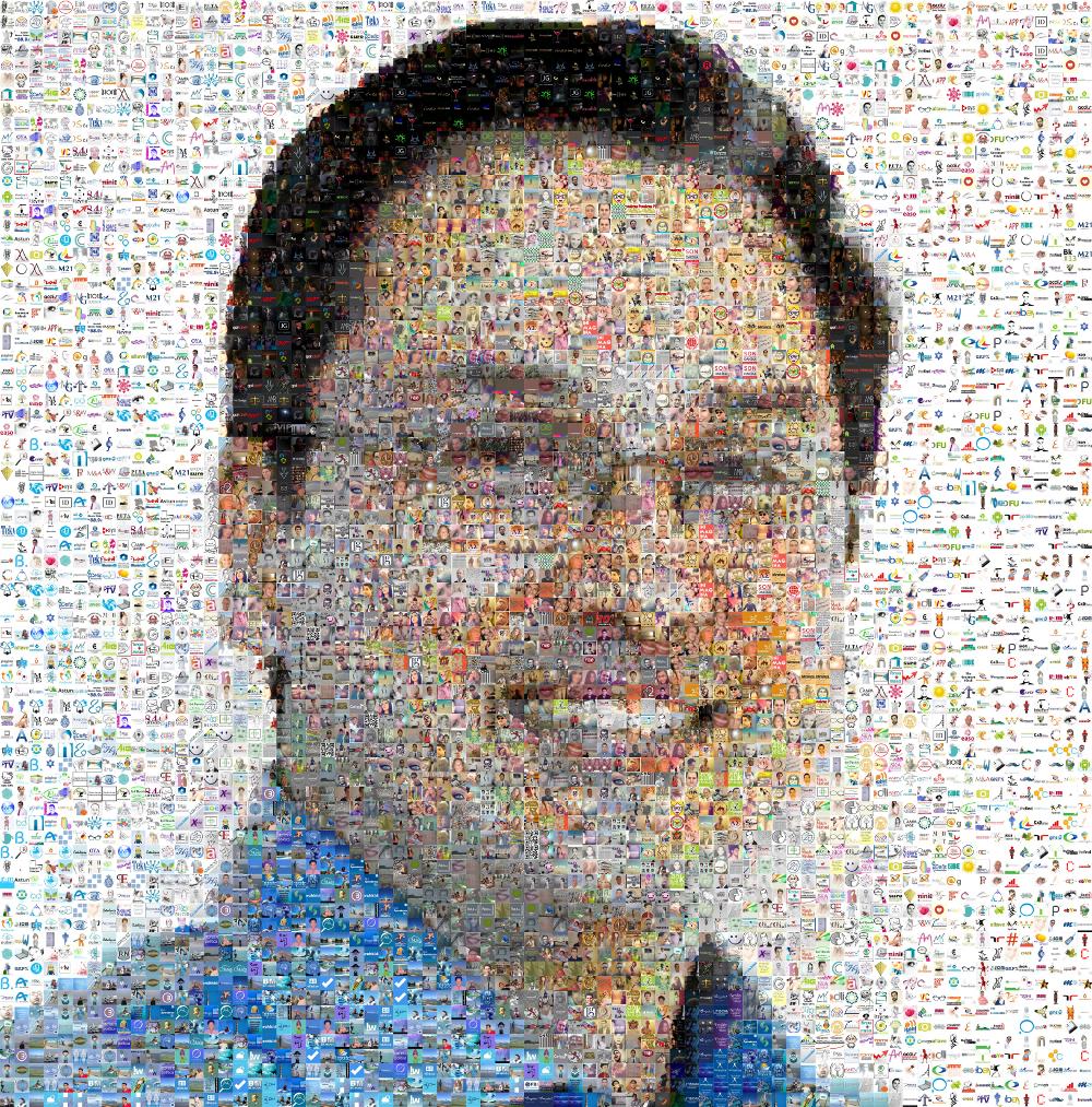 Mosaico Juan Carlos Mejía Llano con fotos de Twitter