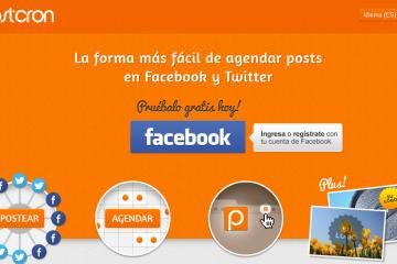 Postcron - herramienta de gestión de Facebook y Twitter