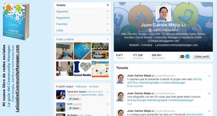 300.000 followers en Twitter Juan Carlos Mejía Llano