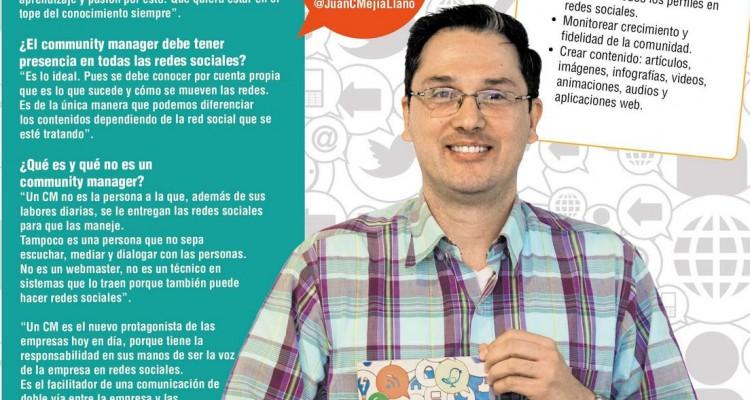 Juan Carlos Mejía Llano en lanzamiento de su libro La Guía del Community Manager en El Colombiano