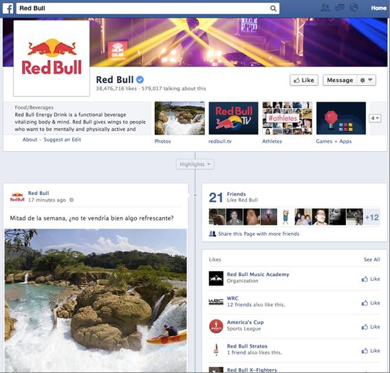 RedBull Facebook