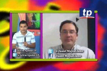 Juan Carlos Mejia Llano particiando en el programa de TV de Teleprogreso en Honduras