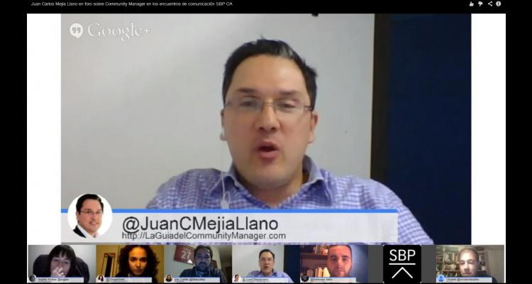 Juan Carlos Mejia Llano en foro sobre Community Manager en SBP CA España