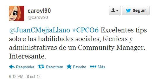 Tuit conferencia Juan Carlos Mejía 1