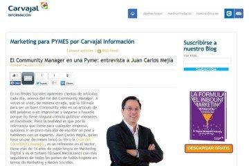 Juan Carlos Mejía Llano en Blog Carvajal Información