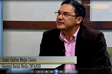 Juan Carlos Mejía Llano hablando sobre la generación Z en el programa de TV Negocios en Telemedellín