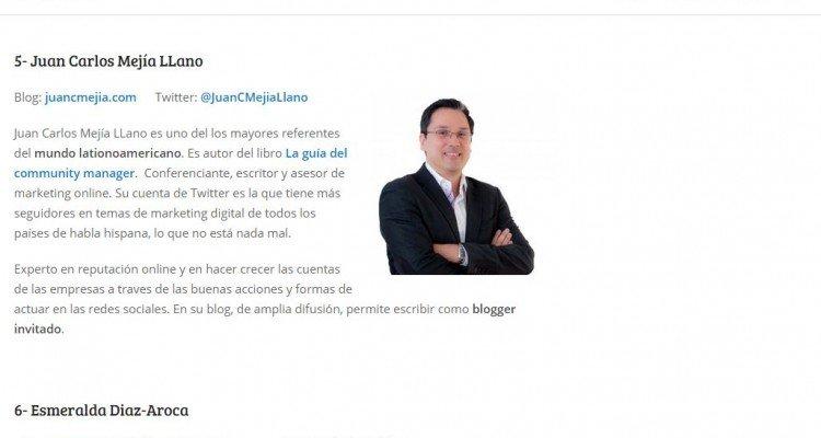 Juan Carlos Mejía Llano en el blog de Javier Ramos