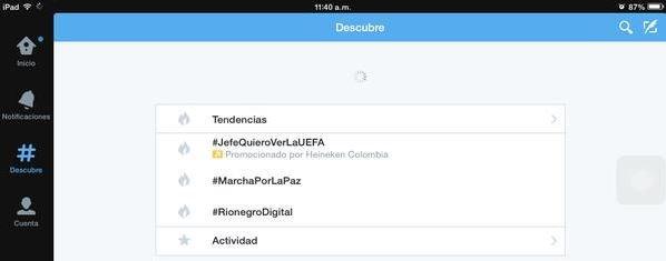 Hashtag usado en conferencia de Juan Carlos Mejía Llano trending topic en Colombia