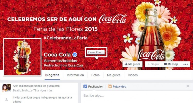 Facebook Cocacola