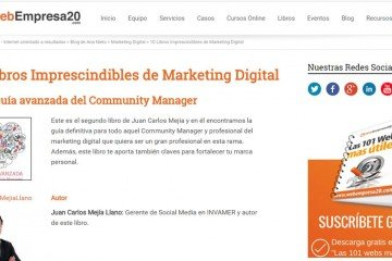 La Guía Avanzada del Community Manager entre los 10 mejores libros de marketing digital 2015