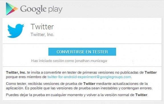 Beta Tester Twitter