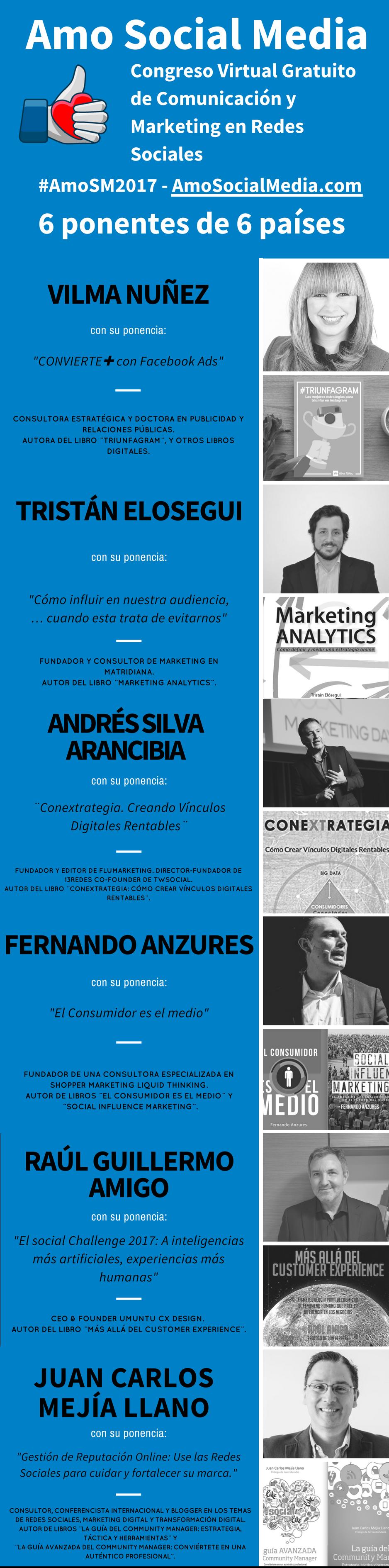 Infografía Congreso Amo Social Media