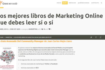 La guía Avanzada del Community Manager recomendada por el portal OinkMyGoD