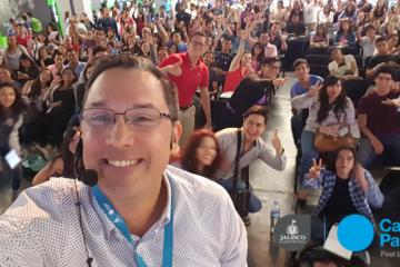 Selfie despues de conferencia de Juan Carlos Mejía Llano - Campus Party 2016