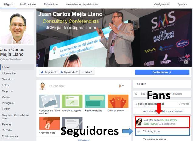 Seguidores de página de Facebook